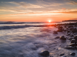 Sunset at Llantwit Major-12 crop copy | by singingsnapper