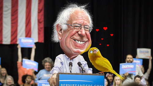 Birdie Sanders - The Canary in the Coalmine of Democracy | by DonkeyHotey