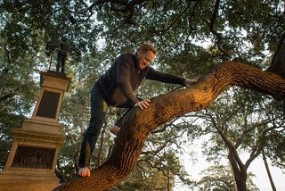Tyler Climbing Trees at Charleston Waterfront Park | by goingslowly