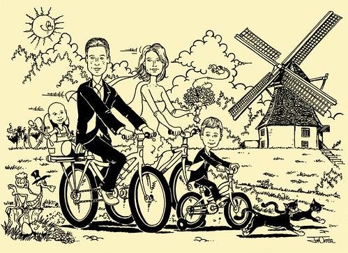 Invitaciones de boda ciclistas