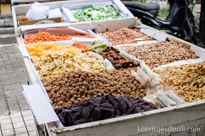 frutos secos de la gastronomía griega