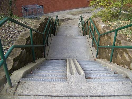Bike gutter/trough, Capital Crescent Trail, Bethesda