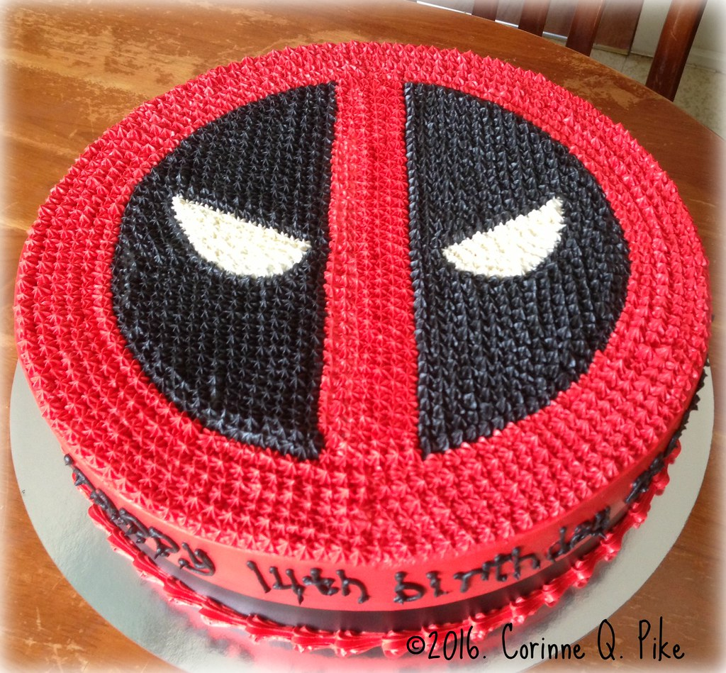 Deadpool themed birthday cake pikecorinne Flickr