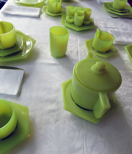 Lime Green Dining Set in the Sonneveld House in Rotterdam, Holland