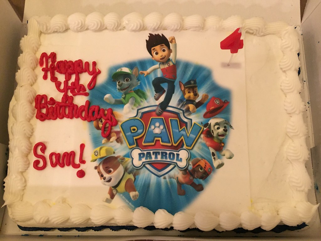 Mommy Thinks This Cake My 4yo Was Very Happy With His Paw Patrol Birthday
