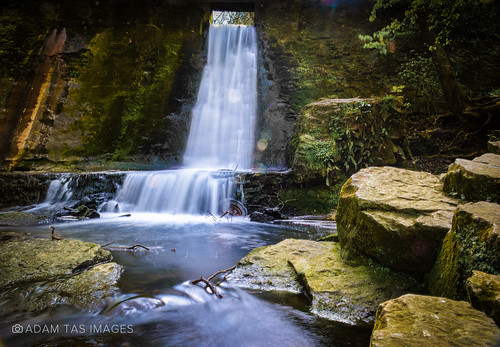 waterfall in Wepre Park. | by #adamtasimages