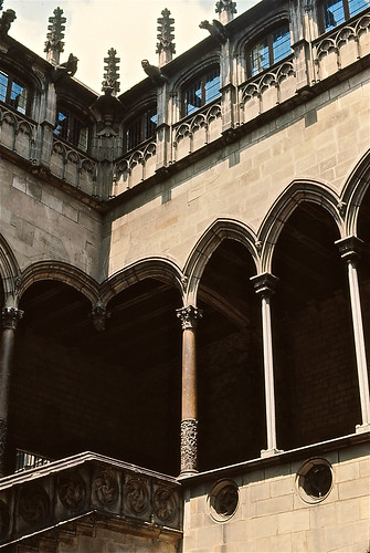 Exterior: Barcelona Cathedral: Detail Of Exterior Staircase