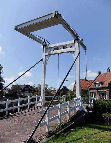 A draw bridge over the canal in Edam, Holland