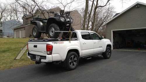 Side By Side Atv >> An ATV Carrier On A Toyota Tacoma | A DiamondBack ATV ...
