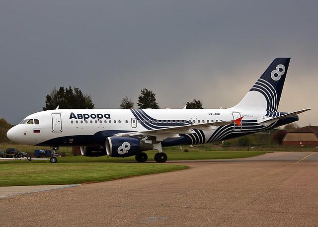 VP-BWL Airbus A319-111 Aurora Airlines