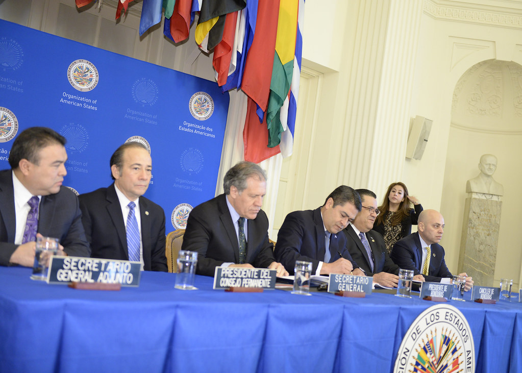 Oas And Honduras Sign Agreement To Create Anti Corruption Flickr