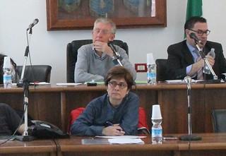 Giusy Caldararo durante l'ultimo Consiglio