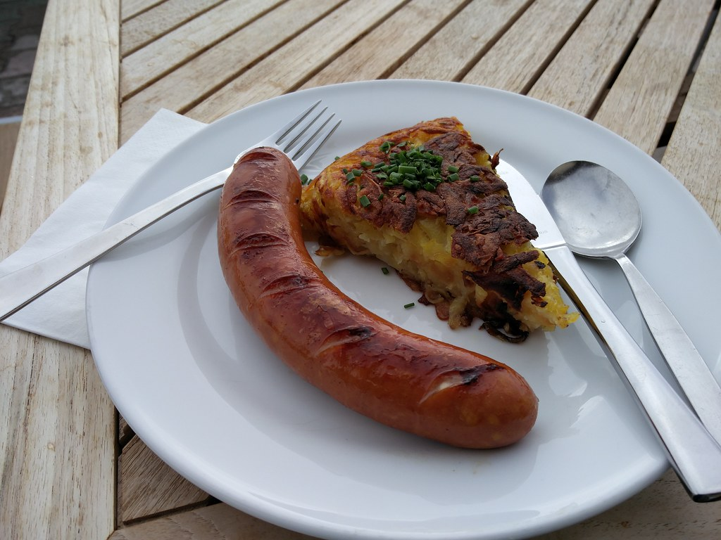 Bratwurst and rosti