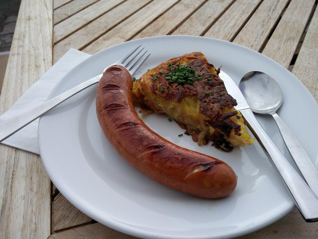 Bratwurst and rosti