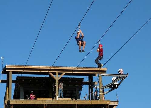 Zip-Lining at the Charlotte Whitewater Center | by Game Time For Life