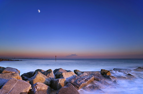 Blue Hour Moon [Explored] | by Langstone Joe