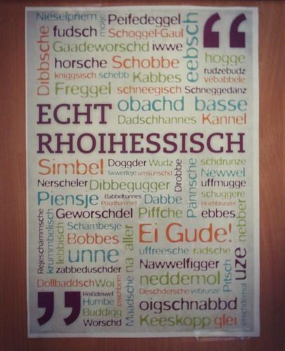 Rheinhessisch #kennichalle #dialekt