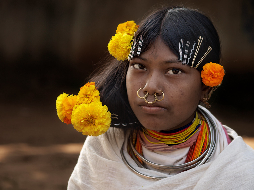 Tribe Girl With Flowers In The Hair Orissa India Flickr