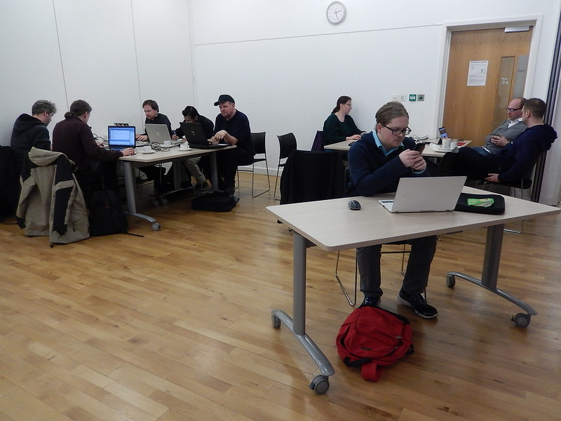 Participants at Wuthering Hacks