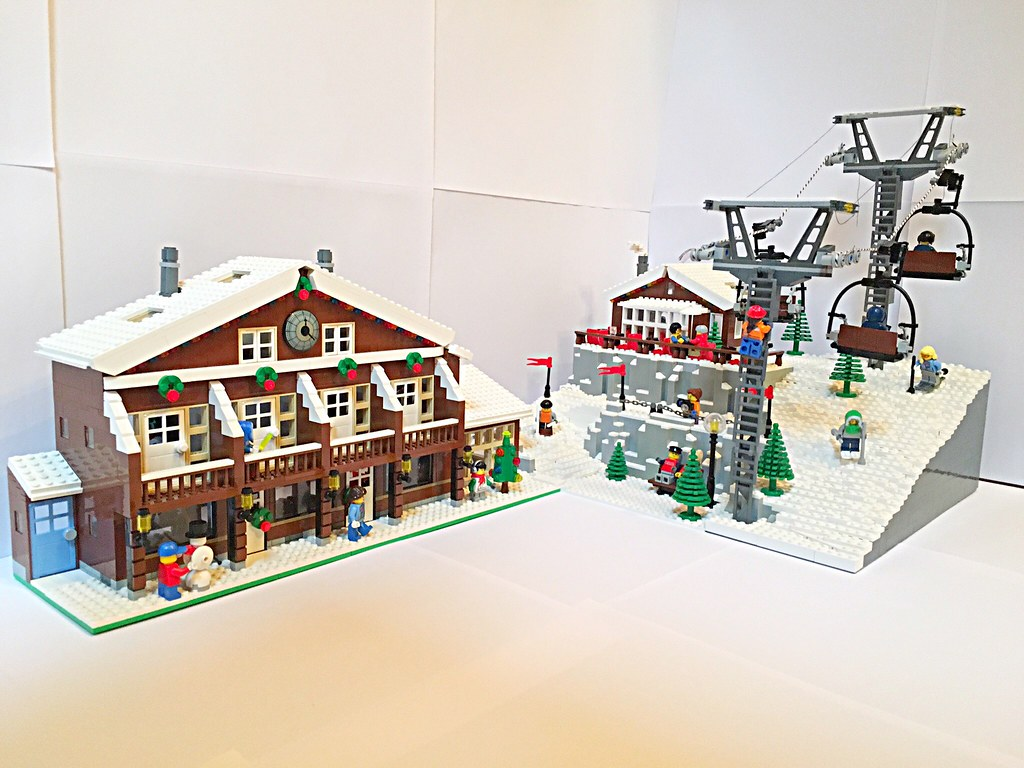 lego ski resort moc ivan bricks flickr