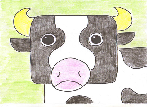 rectangle cow - v | by Viv J M