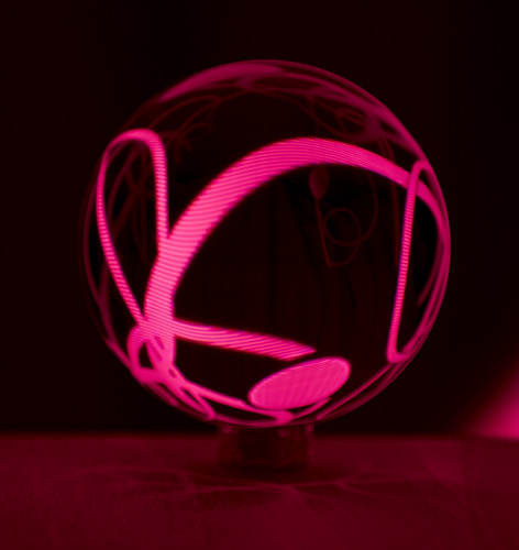 Light painting and a crystal ball