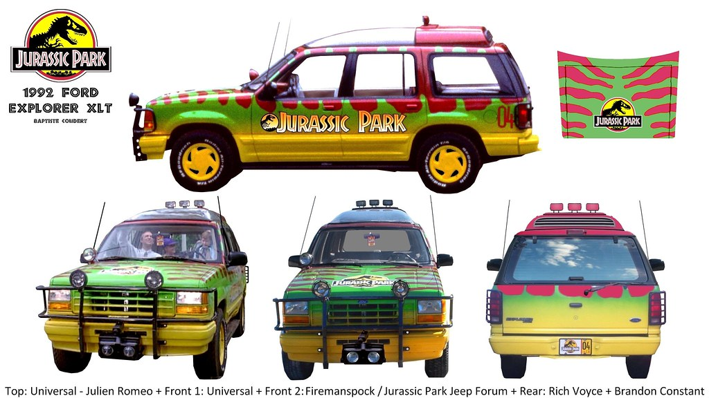 Jurassic park 1993 1992 ford explorer xlt tour car visit v flickr jurassic park 1993 1992 ford explorer xlt tour car visit vehicle electric n04 05 malvernweather Gallery