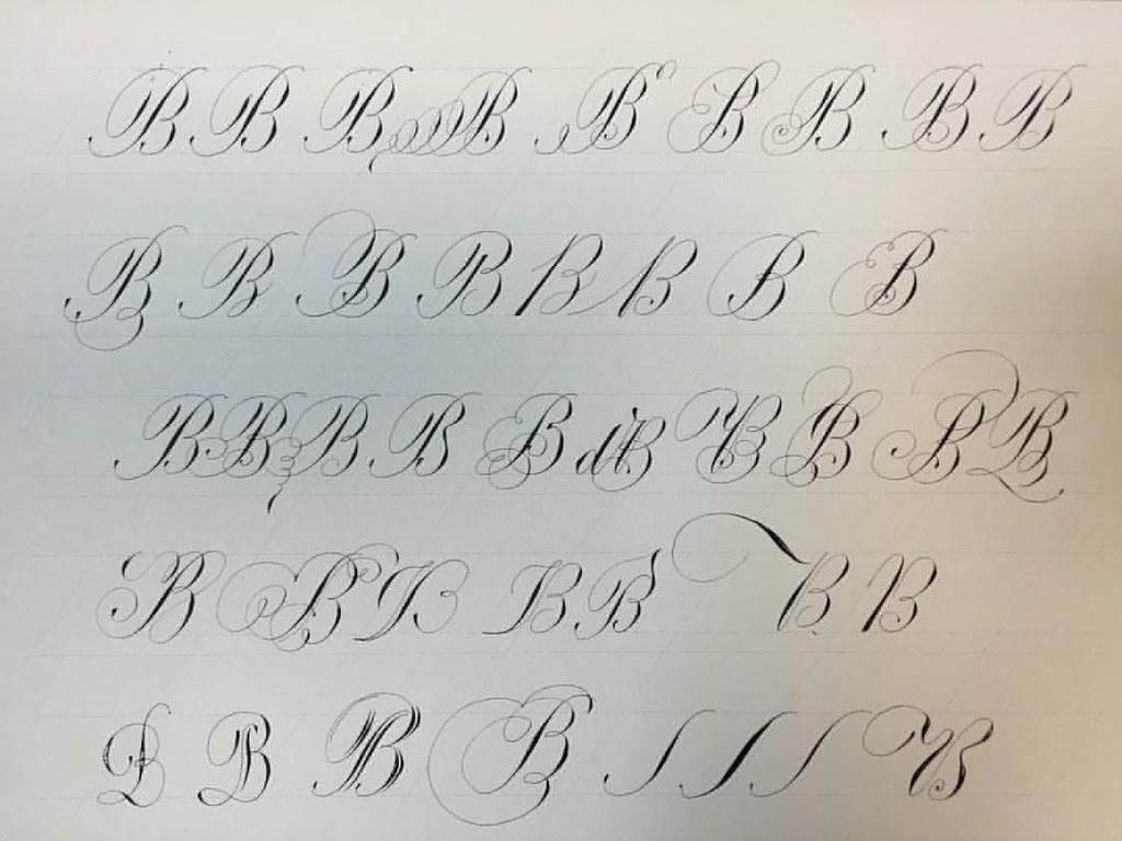 Calligraphy Handwritten Handlettering Script Copperplate Copperplatescript Alphabet