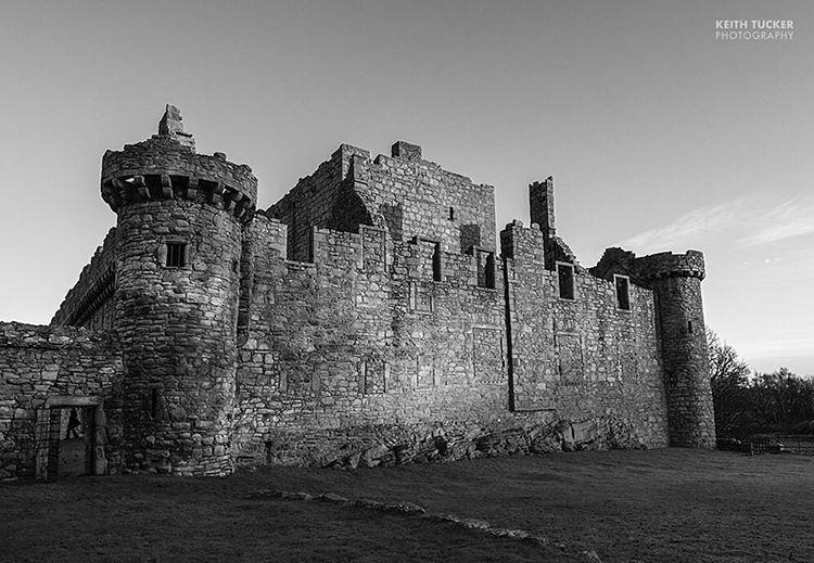 Craigmillar castle in black and white scotland edinburgh castle blackandwhite monochrome