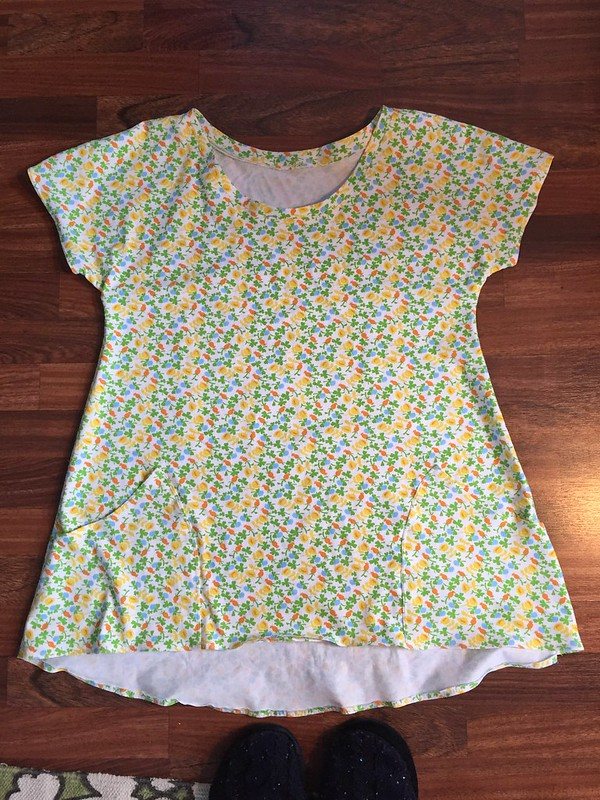Floral lemon drop tunic