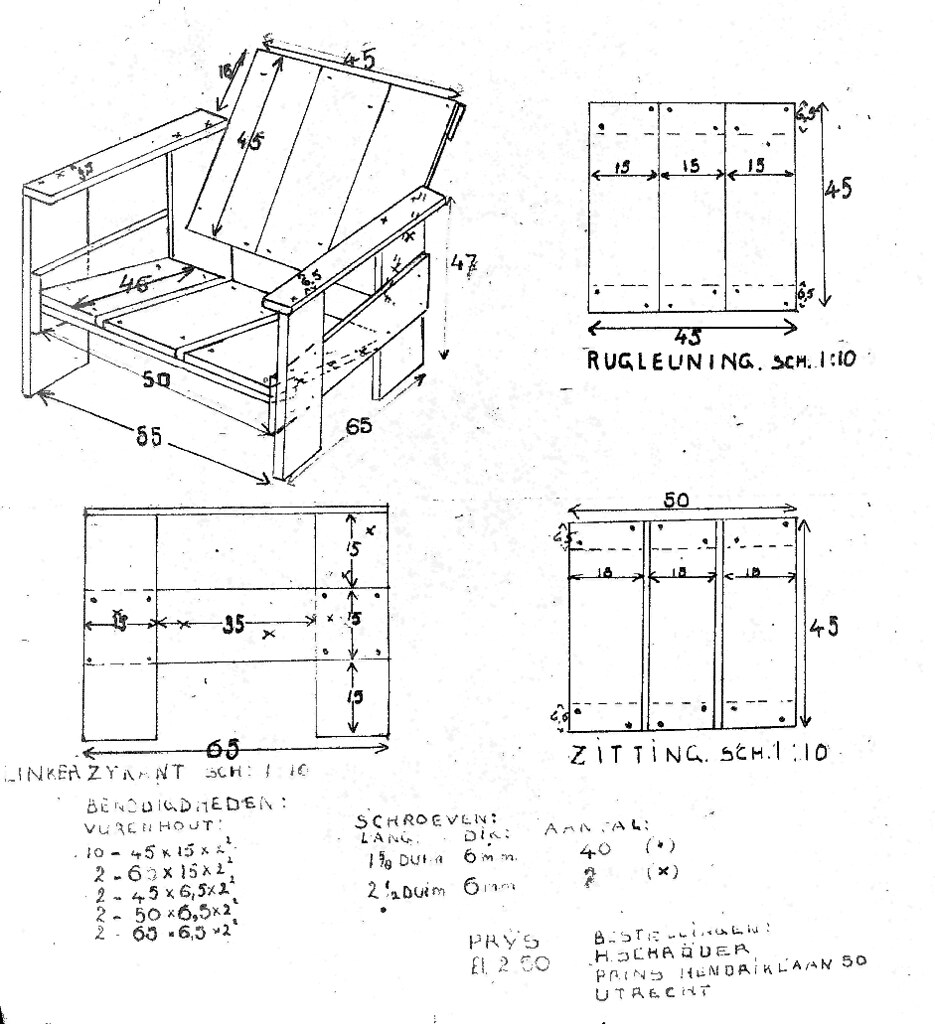 ... Gerrit Rietveld Crate Chair Plans Plus Iso | By Glennellis77