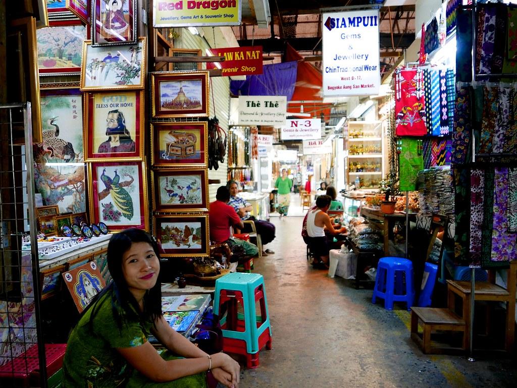 Myanmar Yangon Scott market