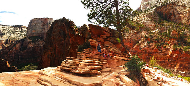 Hiking Angels Landing in Zion National Park, Utah, USA