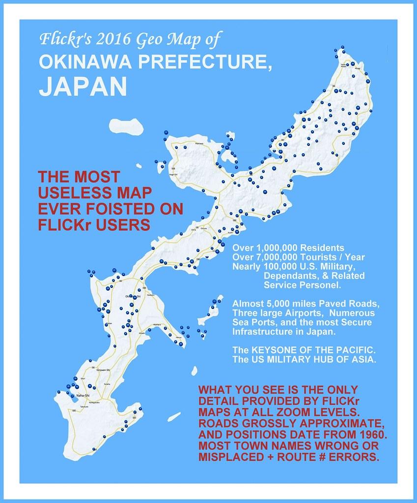 Flickr S Wonderfully Useless Geo Map Of Okinawa Japan By Okinawa Soba Rob