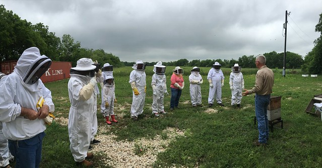 April Introduction to Beekeeping class at the Bee Ranch