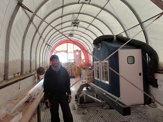 Drill tent nearly ready for the winter | by U.S. Ice Drilling