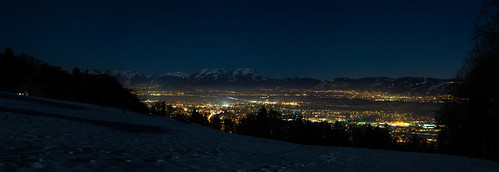 Dornbirn, Hohenems, Lustenau... at night! | by janpioske