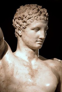 Hermes (detail), measure for all male beauty // Praxiteles ...
