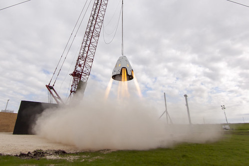 Dragon 2 hover test | by Official SpaceX Photos