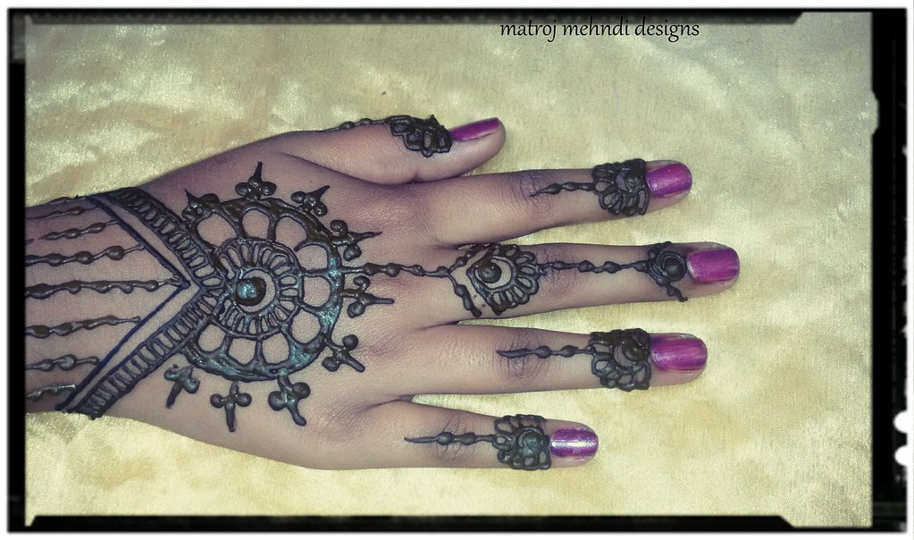 Simple Easy Henna Design For Beginners Easy Mehndi Design Flickr