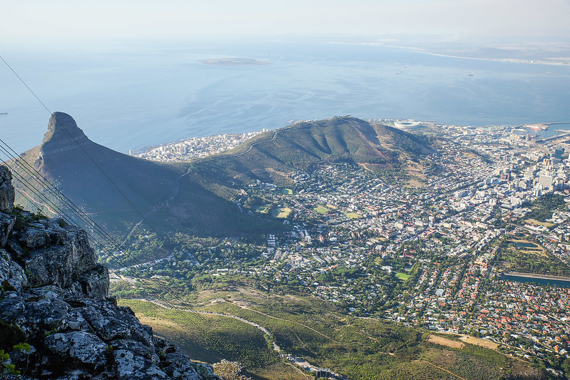 A view from Table mountain South Africa Cape Town Etelä-Afrikka Kapkaupunki