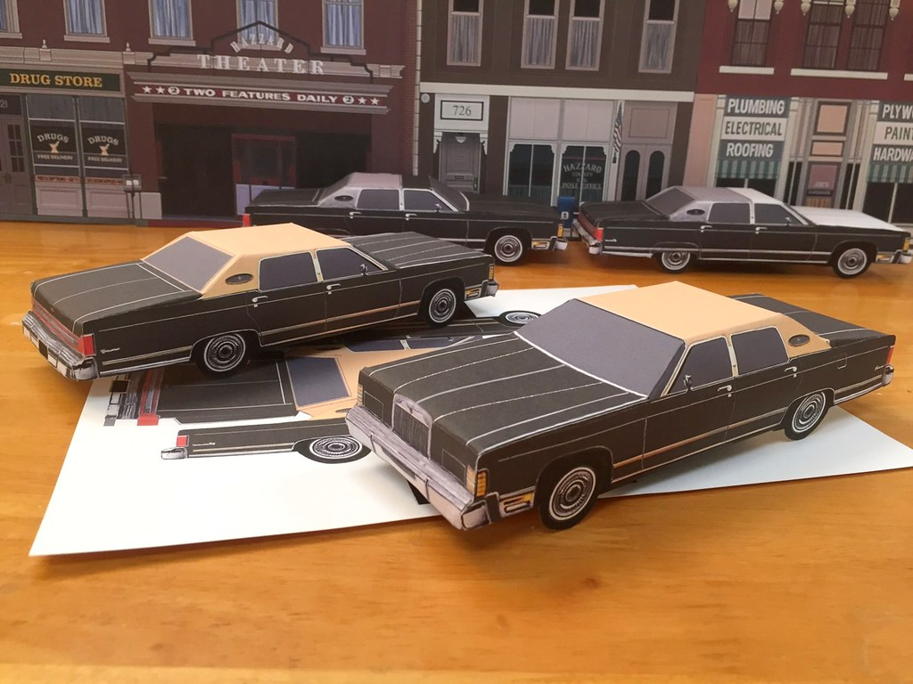 For sale on Ebay template for 1979 Lincoln paper craft car… | Flickr