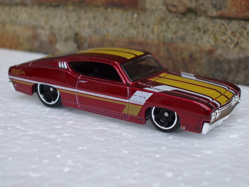 Beetlecybergreen Hot Wheels  Ford Torino Talledega Metallic Red Yellow Racing Stripes By Beetlecybergreen