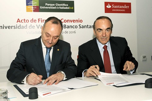 La universidad de valladolid y banco santander firman la r for Oficina banco santander valladolid