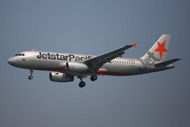 "Airbus, A320-232, VN-A557, ""Jetstar Pacific"", VHHH, Hong Kong"