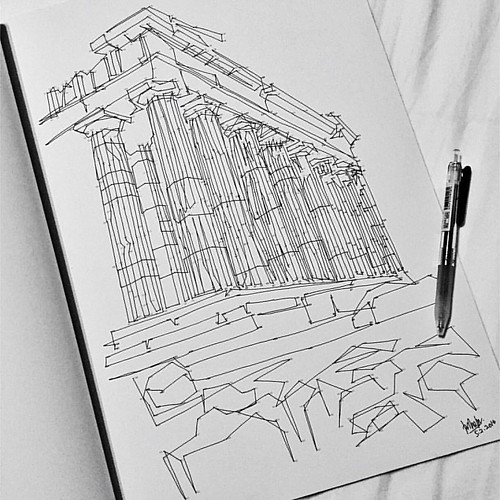Completed this a while ago. Athens. #dottodot #thomaspavitte #cityscapes | by Sasha Farina