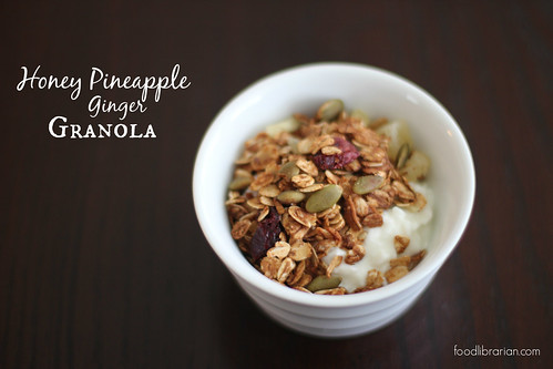 Honey Pineapple Ginger Granola | by Food Librarian