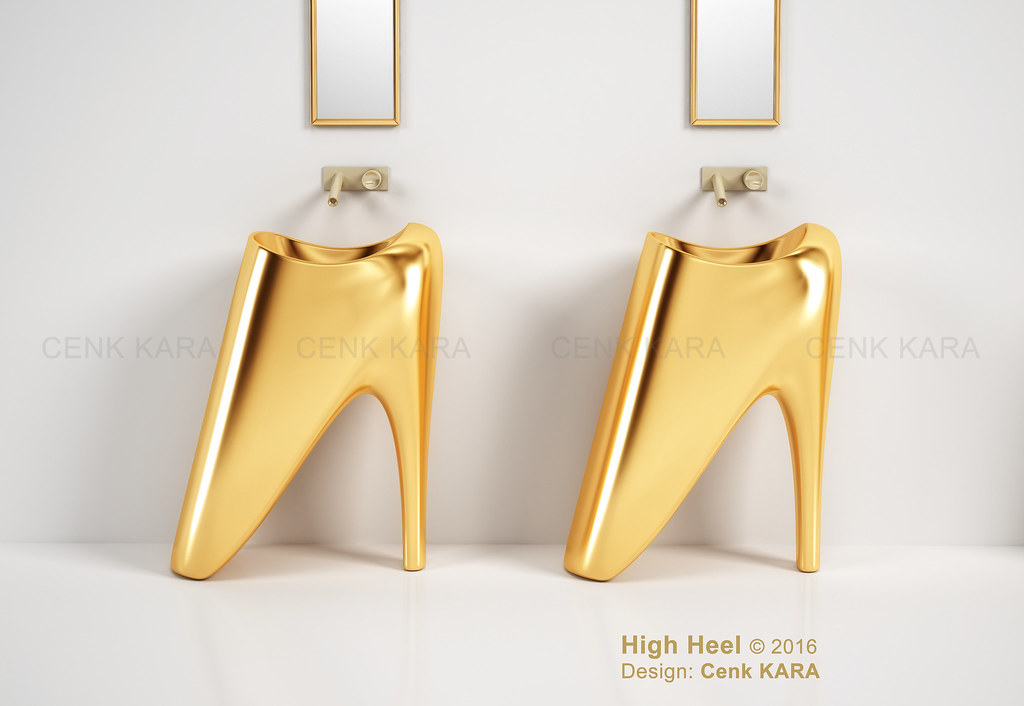 High Heel - freestanding washbasin concept