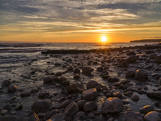 Sunset at Llantwit Major-13 copy | by singingsnapper