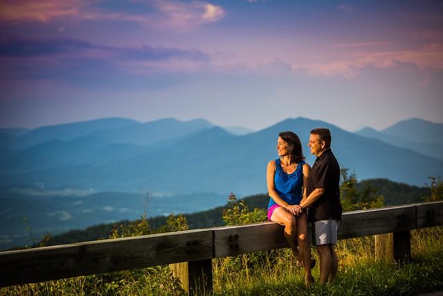 Couple on the Blue Ridge Parkway